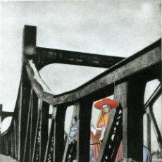 Arte: COLLAGE SURREALISTA HECHO A MANO. FIRMADO INDALECIO. Lote 183406490