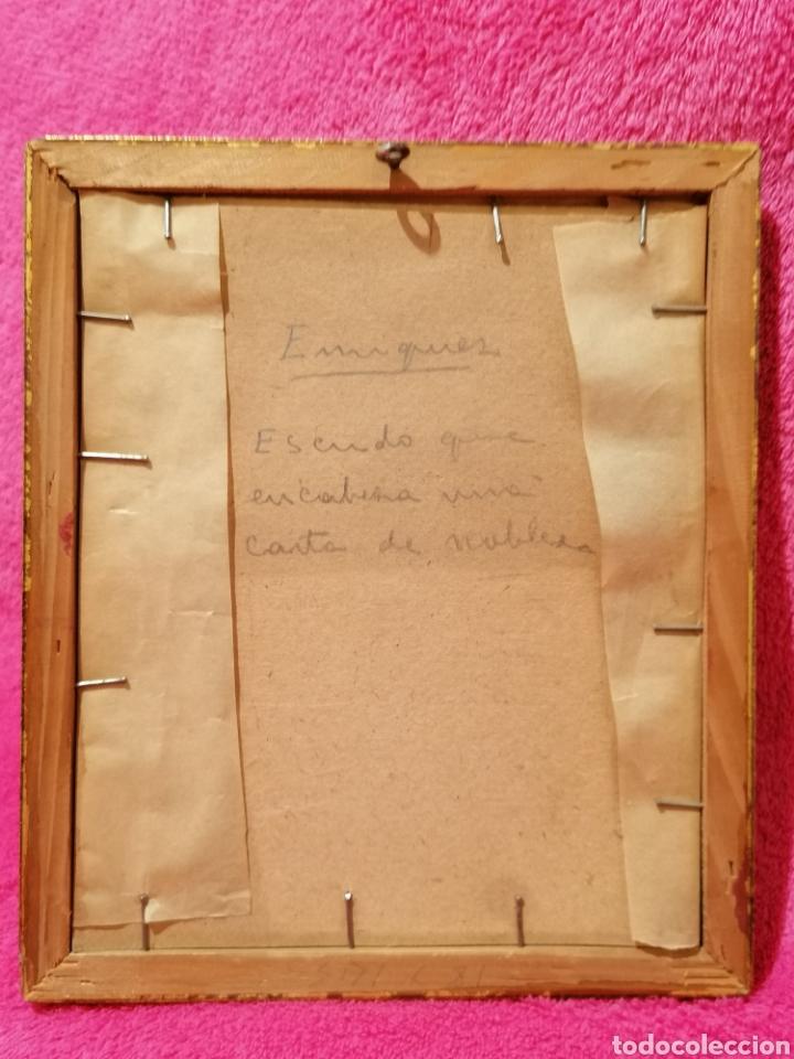 Arte: ESCUDO HERÁLDICO DEL APELLIDO ENRIQUEZ. SIGLO XVII-XVIII - Foto 4 - 183408843