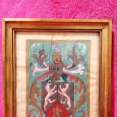 Arte: ESCUDO HERÁLDICO DEL APELLIDO ENRIQUEZ. SIGLO XVII-XVIII. Lote 183408843