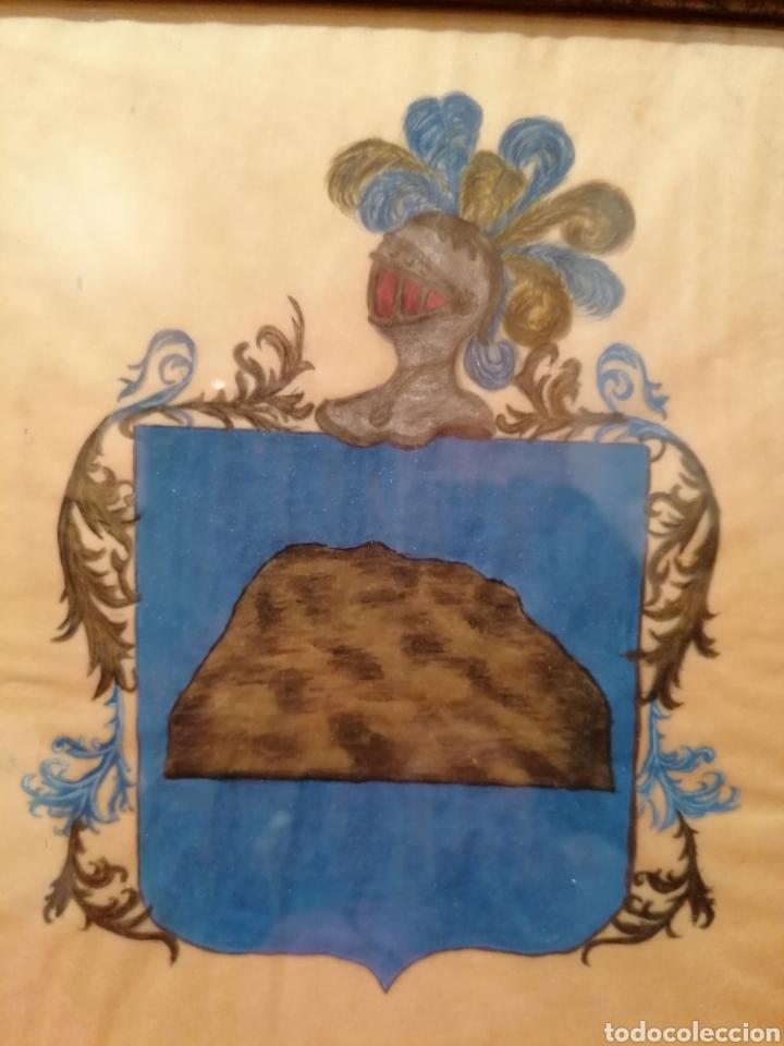 Arte: ESCUDO HERÁLDICO DEL APELLIDO ROCA. SIGLO XVII-XVIII - Foto 2 - 183410171