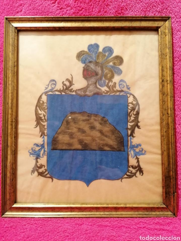 Arte: ESCUDO HERÁLDICO DEL APELLIDO ROCA. SIGLO XVII-XVIII - Foto 5 - 183410171
