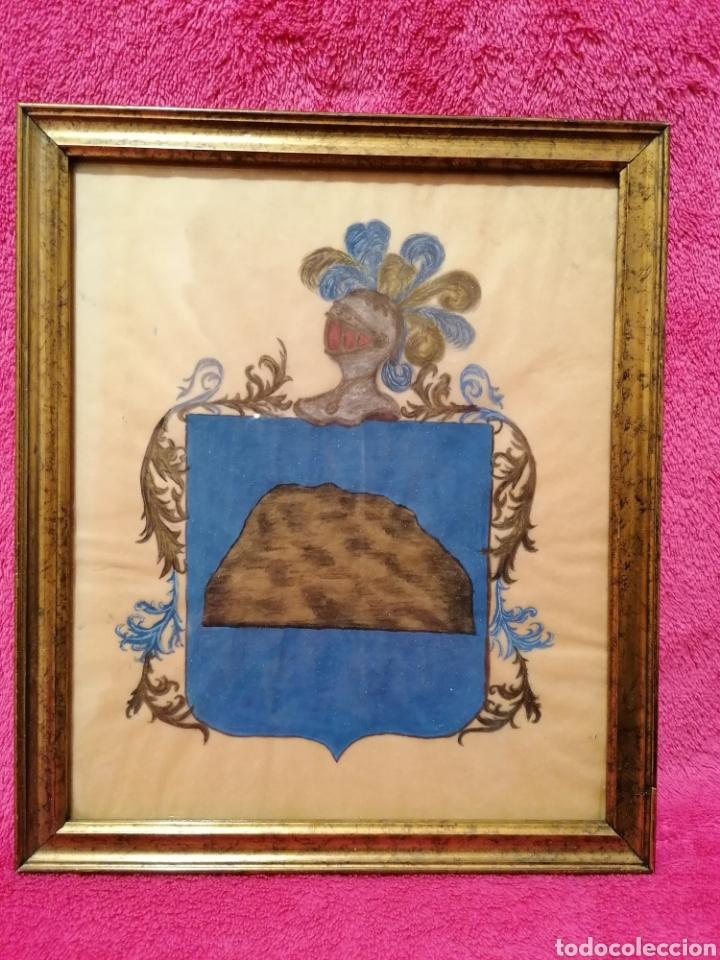 ESCUDO HERÁLDICO DEL APELLIDO ROCA. SIGLO XVII-XVIII (Arte - Dibujos - Antiguos hasta el siglo XVIII)