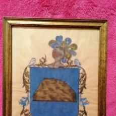 Arte: ESCUDO HERÁLDICO DEL APELLIDO ROCA. SIGLO XVII-XVIII. Lote 183410171
