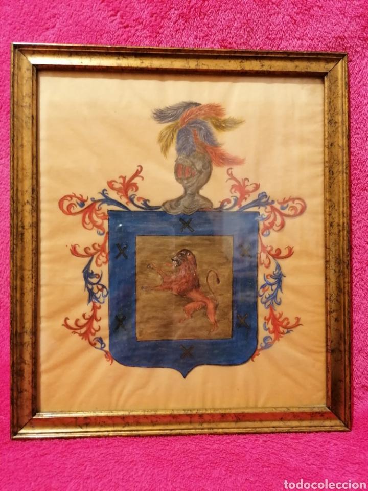 ESCUDO DEL APELLIDO ARIZMENDI. SIGLO XVII-XVIII (Arte - Dibujos - Antiguos hasta el siglo XVIII)