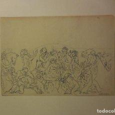 Arte: EXTRAORDINARIA PLUMILLA/PAPEL(ROMANÍ). ADORACIÓN DE JESÚS. VICENTE NAVARRO. AÑOS 20-30. ORIGINAL¡¡¡. Lote 183426708