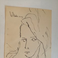 Arte: GINO HOLLANDER. DIBUJO SOBRE CARTULINA.. Lote 183550628