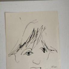 Arte: GINO HOLLANDER. DIBUJO SOBRE PAPEL DE 1963. Lote 183551015