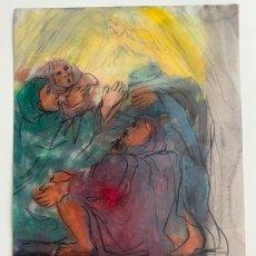 Arte: DIBUJO ORIGINAL A CERAS , MARIA VICH NADAL , FELANITX , MALLORCA . Lote 183559281