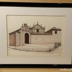Arte: JUAN A. MARTINEZ POZO JAEN 1947 PUERTA DEL ANGEL DIBUJO ACUARELA JAEN. Lote 183644440