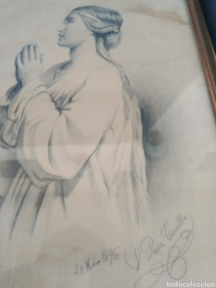 Arte: DIBUJOS AÑO 1896. SALVADORA PEREZ TORRALBA - Foto 5 - 183696416