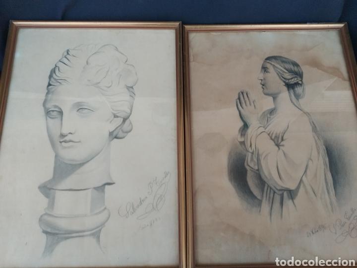 DIBUJOS AÑO 1896. SALVADORA PEREZ TORRALBA (Arte - Dibujos - Modernos siglo XIX)