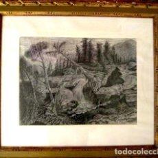 Arte: ALEXANDRE CARDUNETS CAZORLA (1871-1944). PAISAJE DEL PIRINEO. 30 X 40 CM. FECHADO EN 1921.. Lote 183829901