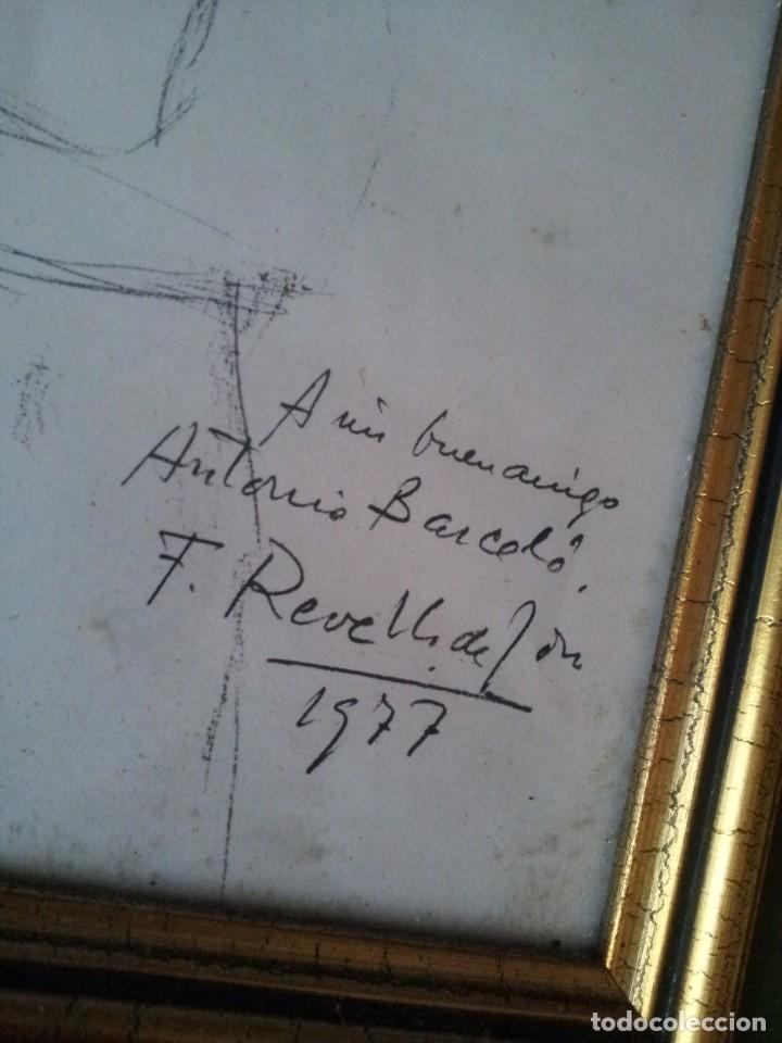 Arte: DIBUJO DE FELIX REVELLO DE TORO DEDICADO 1977 - Foto 2 - 183916413
