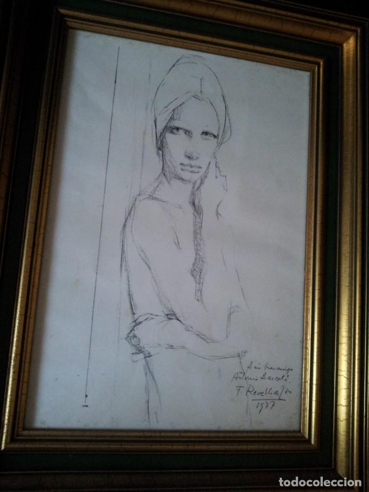 Arte: DIBUJO DE FELIX REVELLO DE TORO DEDICADO 1977 - Foto 4 - 183916413