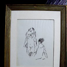 Arte: EROS (LUIGORRI) DIBUJO ORIGINAL A TINTA FIRMADO. Lote 183934917
