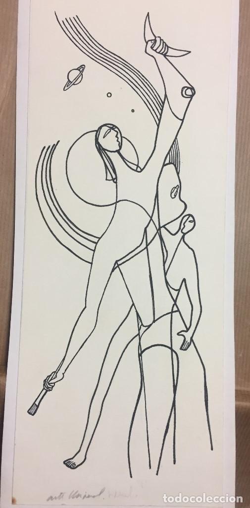 CIRO SALOMON ODUBER (PANAMÁ 1921- ESPAÑA 2002). MEDIDAS 34X12,5 CMS.ARTE UNIVERSAL (Arte - Dibujos - Contemporáneos siglo XX)
