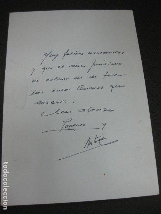 Arte: DIBUJO ORIGINAL DE PEDRO MARCOS BUSTAMANTE (BILBAO 1921 - CADIZ 2001) EN FELICITACION NAVIDEÑA 1994 - Foto 2 - 184088202