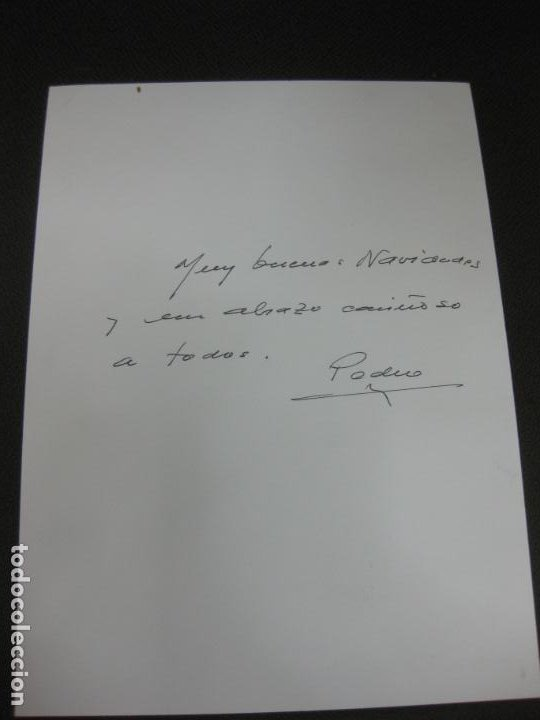 Arte: DIBUJO ORIGINAL DE PEDRO MARCOS BUSTAMANTE (BILBAO 1921 - CADIZ 2001) EN FELICITACION NAVIDEÑA 1995 - Foto 2 - 184088748