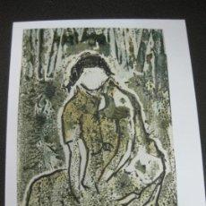 Arte: DIBUJO ORIGINAL DE PEDRO MARCOS BUSTAMANTE (BILBAO 1921 - CADIZ 2001) EN FELICITACION NAVIDEÑA 1997. Lote 184088891