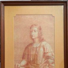 Arte: DIBUJO ORIGINAL DEL S. XVIII, SANGUINA SOBRE PAPEL , POSIBLE ESCUELA ITALIANA . Lote 184266405
