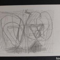 Arte: RAFOLS CASAMADA DIBUJO A LAPIZ CON CERTIFICADO DE AUTENTICIDAD. Lote 184522026