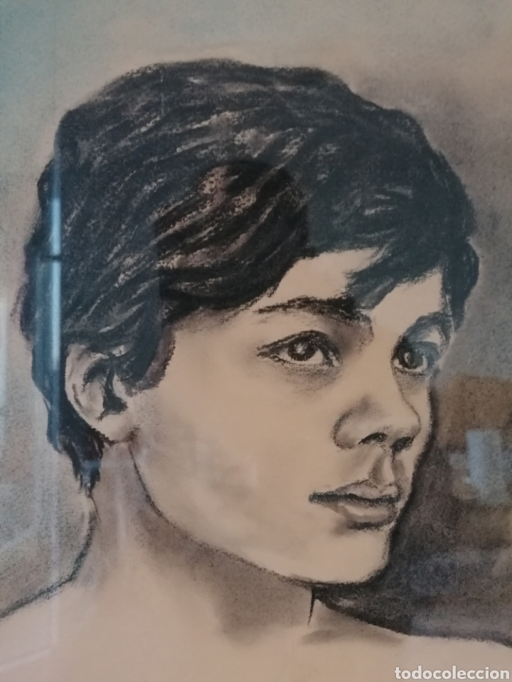 Arte: Dibujo retrato Daniel levillon Paris XIX - Foto 2 - 184584186