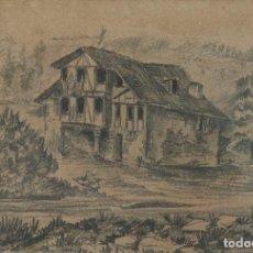 Arte: ROGELIO GORDON - SAN SEBASTIAN 1860-1938 - TÍTULO: ALREDEDORES DE SAN SEBASTIÁN (CIRCA 1880). Lote 184728532