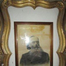 Arte: JOSE MARCED FURIO 1889 PINTOR DE ALICANTE EXCELENTE DIBUJO FIRMA DEDICATORIAS 1901 DOCTOR EZQUERRO. Lote 184932931
