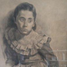 Arte: DIBUJO AL CARBONCILLO ORIGINAL JESÚS MIGUEL SOLER RODRÍGUEZ MONZÓN 1955. Lote 185678296