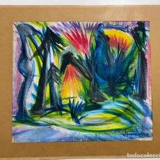 Arte: PINTURA SOBRE TELA . ORIGINAL , FIRMADA. Lote 145589262