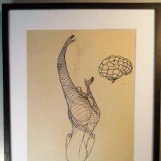 Arte: CIRO S. ODUBER (PANAMÁ 1921-ESPAÑA 2002). MEDIDAS 45X34 CMS.. Lote 185700668
