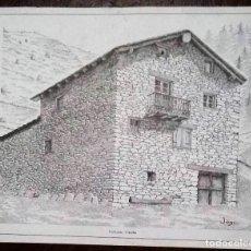 Arte: DIBUJO DE CAL LLARC - CANILLO. FIRMADO POR JONC. MEDIDAS 33 X 27,3 CM.. Lote 185744407