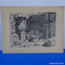 Arte: DIBUJO A PLUMILLA DE LLUÍS FONTANET BOSCH.1932. Lote 185756631