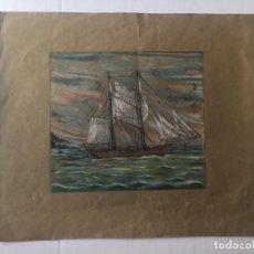Arte: JAUME MARINÉ ALLBAMONTE - VELERO. Lote 185897405