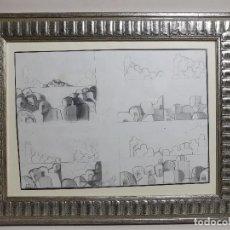 Arte: TINO GRANDIO, (LUGO 1924-1977), ORIGINAL DIBUJO LAPIZ SOBRE PAPEL, 1971-------REF-D. Lote 186010222