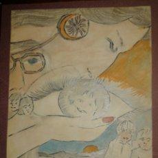 Arte: GRAFITO S/PAPEL. COLOREADO. Lote 186015428