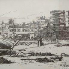 Arte: DIBUJO ORIGINAL J.RAIS, SANT POL DE MAR. 1982. Lote 186017122