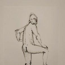Arte: DESNUDO ACADÉMICO, DIBUJO ORIGINAL A TINTA CHINA. Lote 186025018