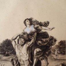 Arte: PAN Y SIRINGA, DIBUJO A TINTA Y GOUACHE, XIX. Lote 186215676