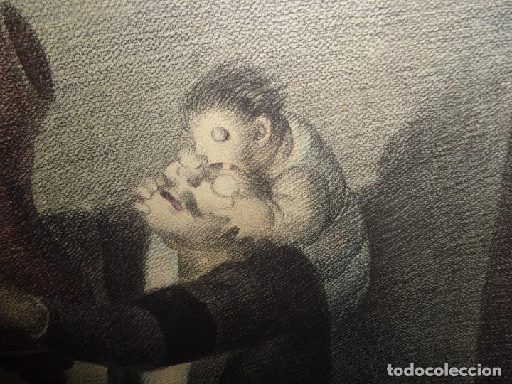 Arte: AUTOR. RAMON CALSINA AÑO 1931 TITULO: EL VIUDO DE LA MODISTA. TAMAÑO 47X61 CTMS DIBUJO A LAPIZ - Foto 4 - 186227792