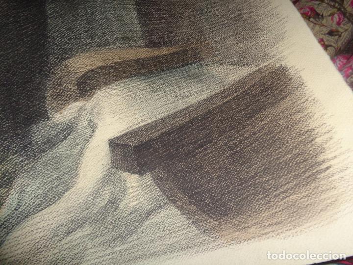 Arte: AUTOR. RAMON CALSINA AÑO 1931 TITULO: EL VIUDO DE LA MODISTA. TAMAÑO 47X61 CTMS DIBUJO A LAPIZ - Foto 6 - 186227792