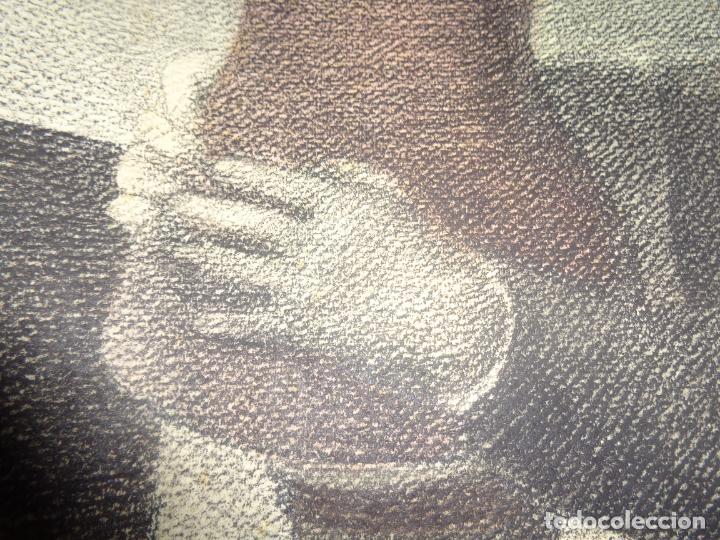 Arte: AUTOR. RAMON CALSINA AÑO 1931 TITULO: EL VIUDO DE LA MODISTA. TAMAÑO 47X61 CTMS DIBUJO A LAPIZ - Foto 7 - 186227792