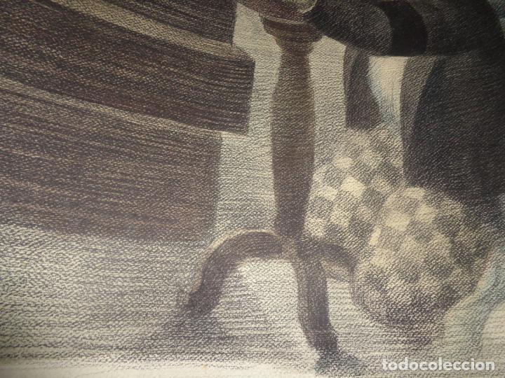 Arte: AUTOR. RAMON CALSINA AÑO 1931 TITULO: EL VIUDO DE LA MODISTA. TAMAÑO 47X61 CTMS DIBUJO A LAPIZ - Foto 8 - 186227792