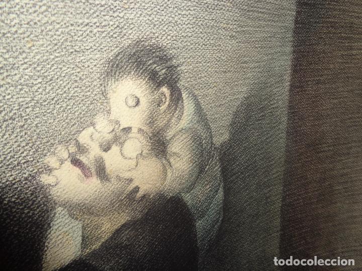 Arte: AUTOR. RAMON CALSINA AÑO 1931 TITULO: EL VIUDO DE LA MODISTA. TAMAÑO 47X61 CTMS DIBUJO A LAPIZ - Foto 10 - 186227792