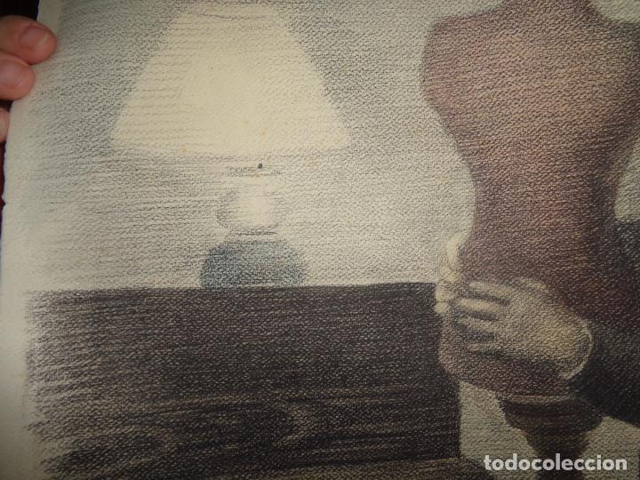 Arte: AUTOR. RAMON CALSINA AÑO 1931 TITULO: EL VIUDO DE LA MODISTA. TAMAÑO 47X61 CTMS DIBUJO A LAPIZ - Foto 14 - 186227792