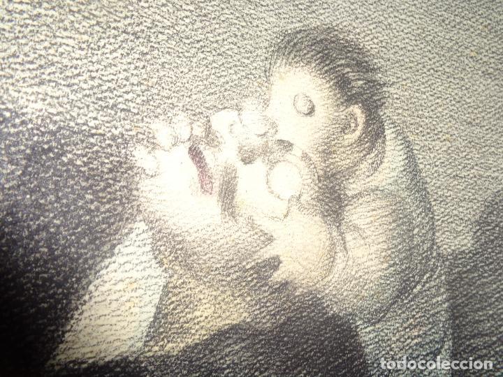 Arte: AUTOR. RAMON CALSINA AÑO 1931 TITULO: EL VIUDO DE LA MODISTA. TAMAÑO 47X61 CTMS DIBUJO A LAPIZ - Foto 15 - 186227792