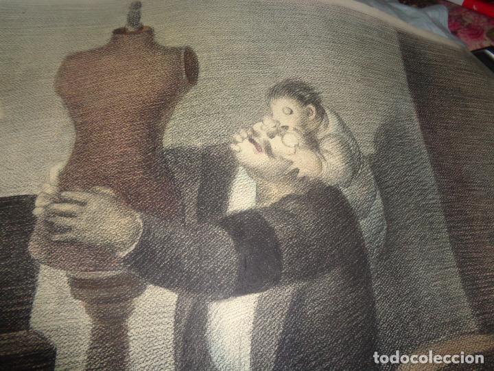 AUTOR. RAMON CALSINA AÑO 1931 TITULO: EL VIUDO DE LA MODISTA. TAMAÑO 47X61 CTMS DIBUJO A LAPIZ (Arte - Dibujos - Antiguos hasta el siglo XVIII)