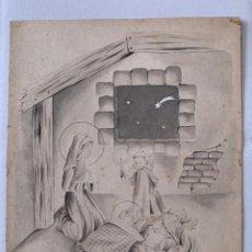 Arte: M. A. PRUNA - BELÉN. DIBUJO ORIGINAL FIRMADO. Lote 186242487