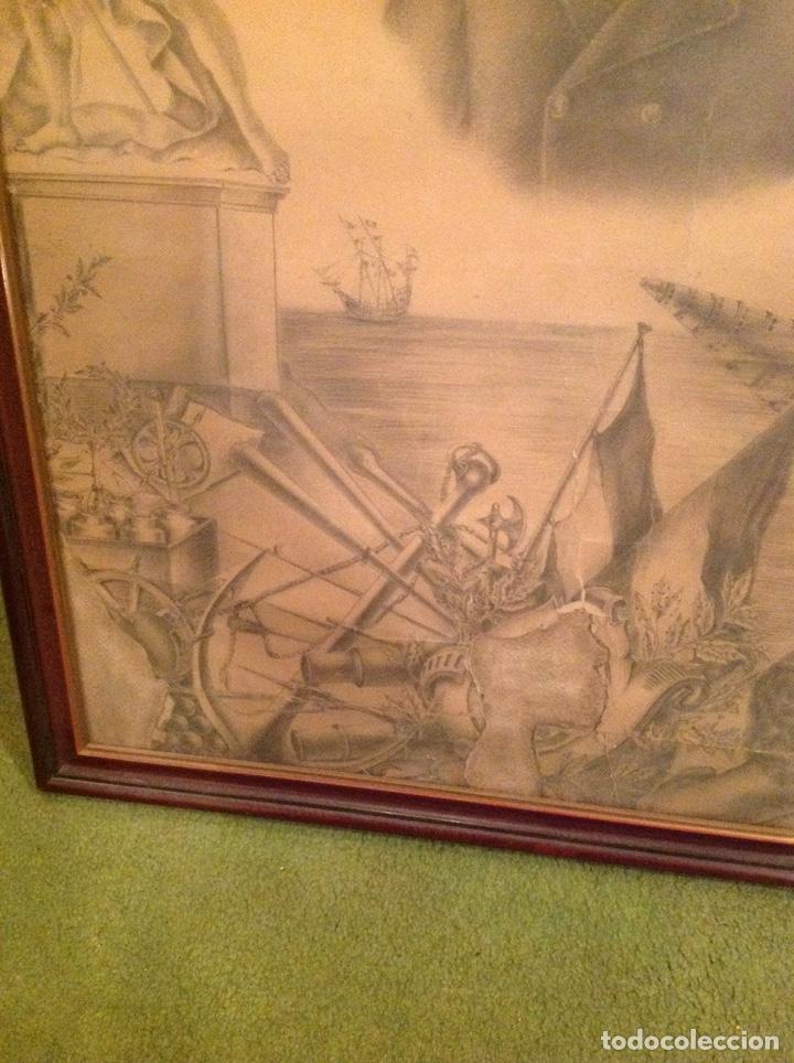 Arte: Dibujo antiguo Isaac Peral - Foto 2 - 186347843