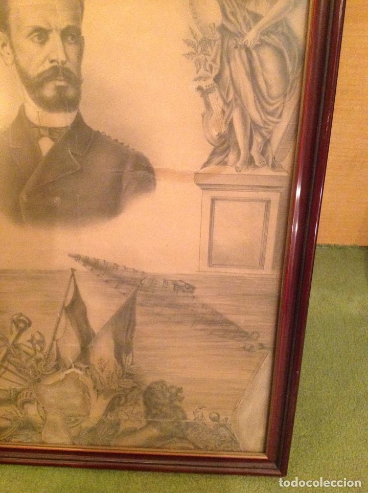 Arte: Dibujo antiguo Isaac Peral - Foto 3 - 186347843